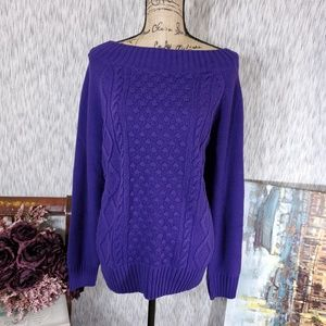 Chaps Braided Crocheted Sweater, Size XL,NWT